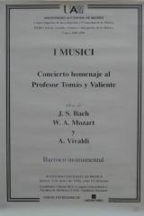 9 de mayo de 1996. XXIII Ciclo de Grandes Autores e Intérpretes de la Música