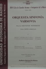 19 de febrero 1999. XXVI Ciclo de Grandes Autores e Intérpretes de la Música