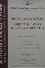 20 de marzo de 1999. XXVI Ciclo de Grandes Autores e Intérpretes de la Música