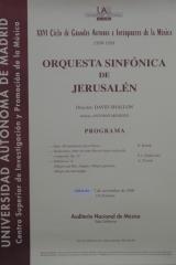 7 de noviembre de 1998. XXVI Ciclo de Grandes Autores e Intérpretes de la Música