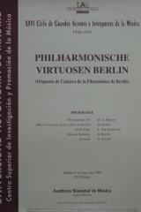 8 de mayo de 1999. XXVI Ciclo de Grandes Autores e Intérpretes de la Música