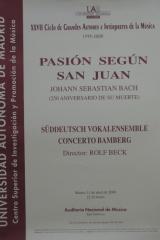 11 de abril de 2000. XXVII Ciclo de Grandes Autores e Intérpretes de la Música
