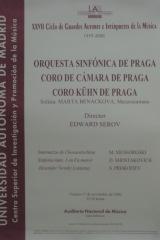 17 de noviembre de 2000. XXVII Ciclo de Grandes Autores e Intérpretes de la Música