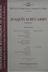29 de enero de 2000. XXVII Ciclo de Grandes Autores e Intérpretes de la Música