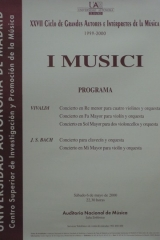 6 de mayo de 2000. XXVII Ciclo de Grandes Autores e Intérpretes de la Música