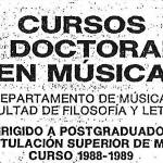 Doctorado en Música